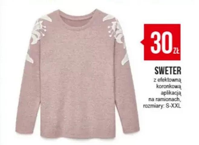 różowy sweter pepco