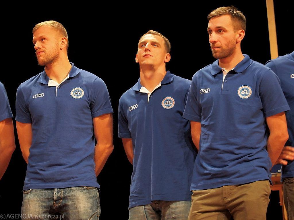Od lewej: Tomasz Tuttas, Kamil Lauryn oraz Aleksandar Atanacković