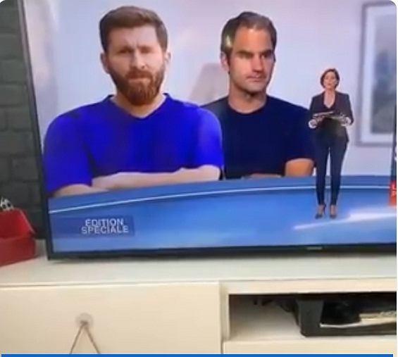 Leo Messi został pomylony ze swoim sobowtórem we francuskiej telewizji