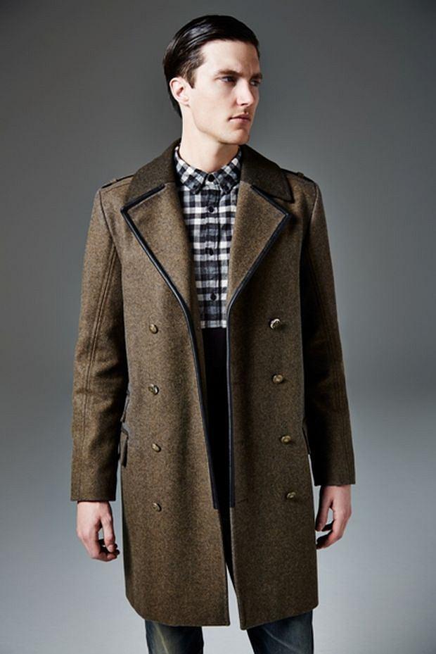 Płaszcz z kolekcji River Island, moda męska, płaszcze