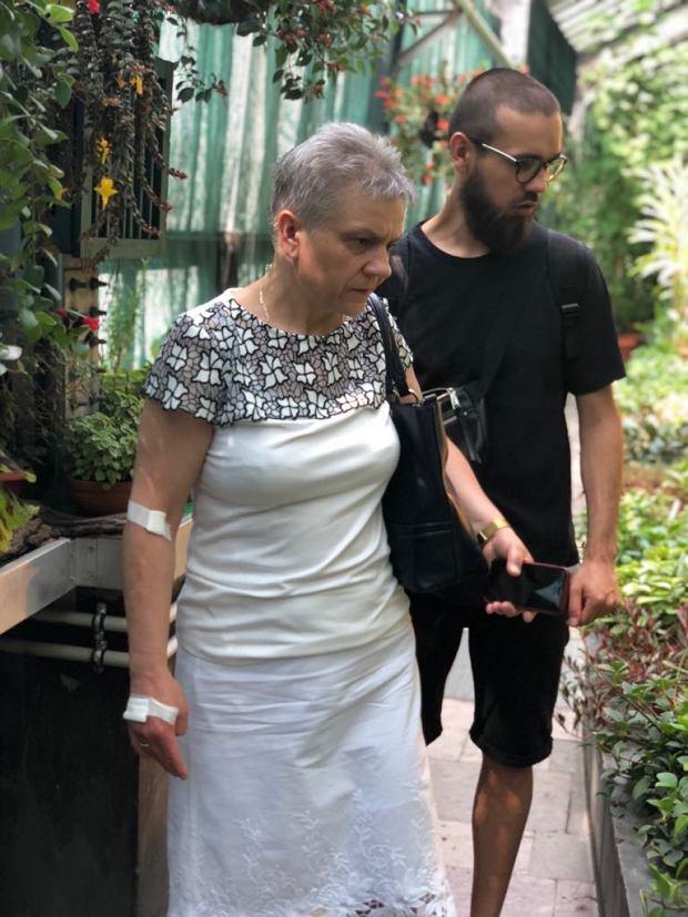 Radek Nawojski z mamą