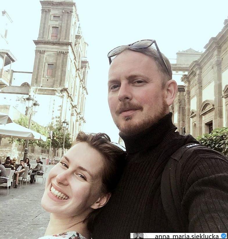 Anna-Maria Sieklucka z partnerem