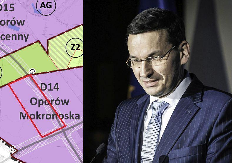 Mateusz Morawiecki i działka kupiona przez niego na Oporowie we Wrocławiu