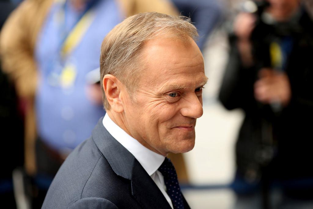 Szef Rady Europejskiej Donald Tusk, Bruksela, 28 maja 2019 r.