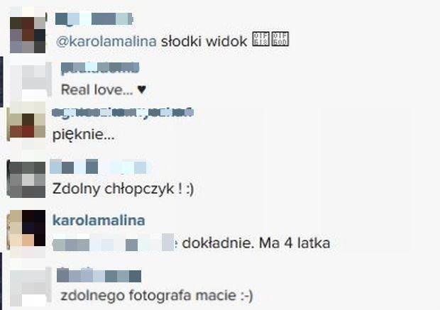 Komentarze na profilu Karoliny Malinowskiej