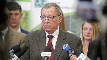 Jan Szyszko z gospodarska wizytą na wyrębie w Puszczy Białowieskiej