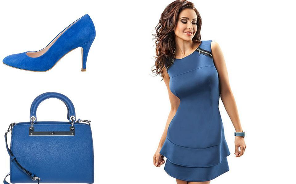 Ubrania w kolorze niebieskim