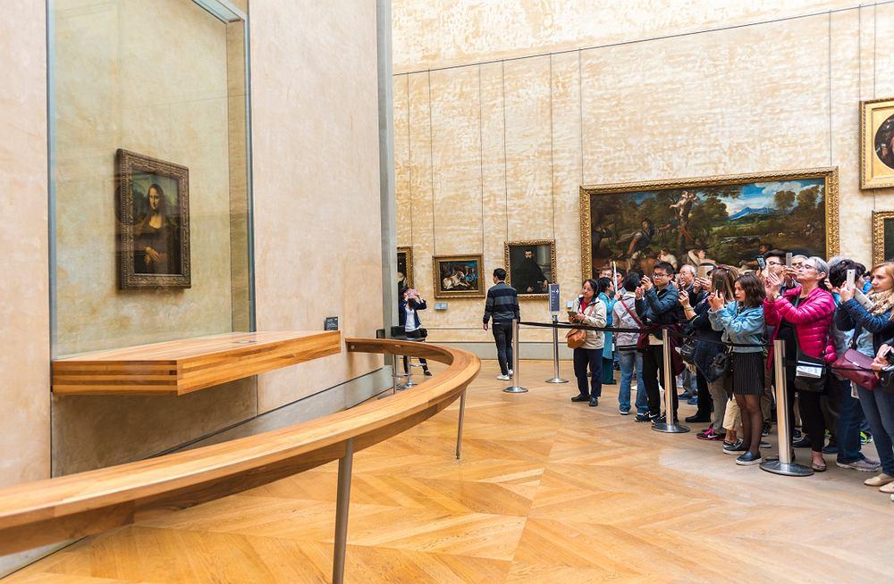 ''Mona Lisa'' Leonardo da Vinci. Luwr. Zdjęcie ilustracyjne
