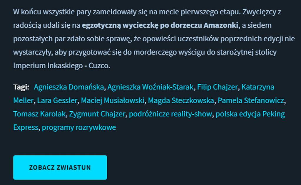 TVN pomylił imię Aleksandry Domańskiej