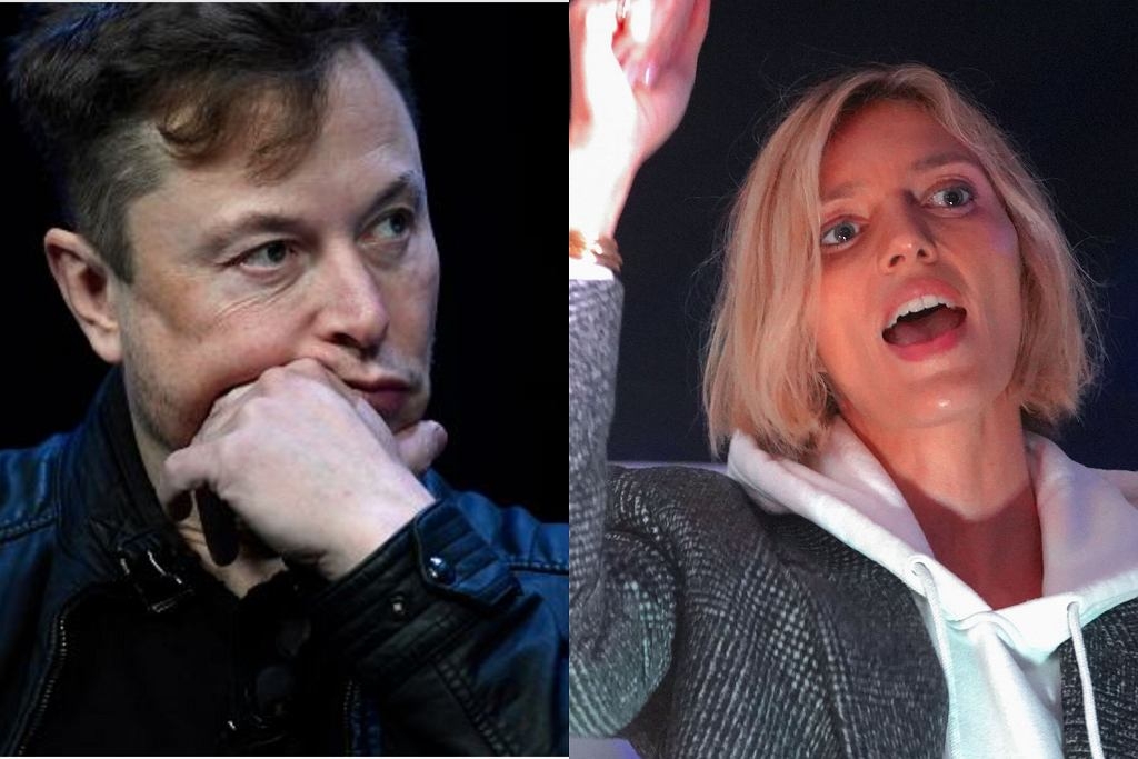 Elon Musk i Anja Rubik