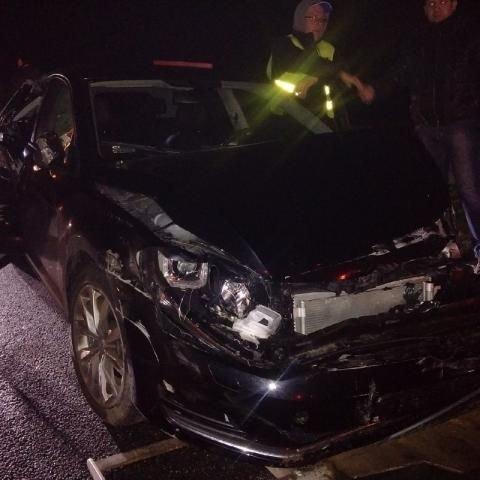 Auto Krzysztofa Włodarczyka po wypadku
