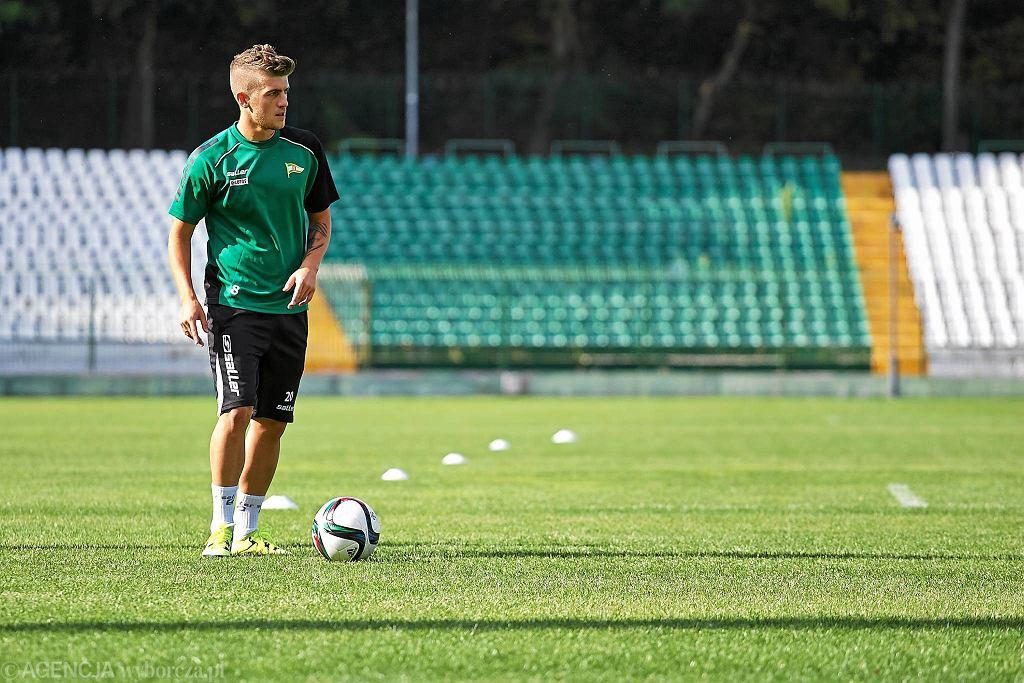 Trening piłkarzy Lechii. Michał Chrapek