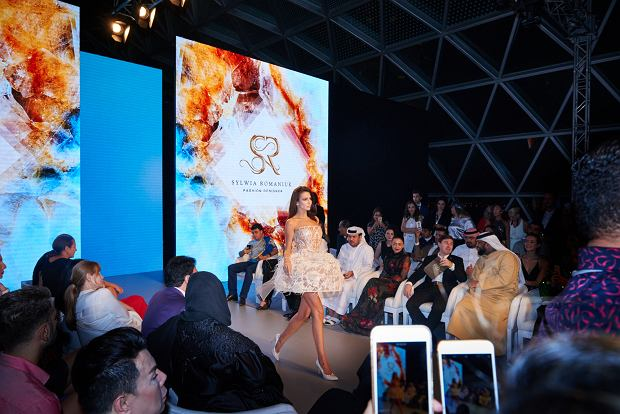 Sylwia Romaniuk, polska projektantka na Arab Fashion Week w Dubaju