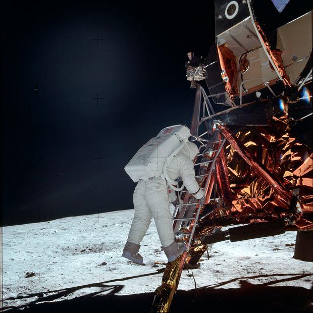 Buzz Aldrin Jr.  na Księżycu