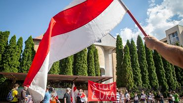 26.06.2020. Protest pod konsulatem białoruskim w Białymstoku w związku z represjami na Białorusi