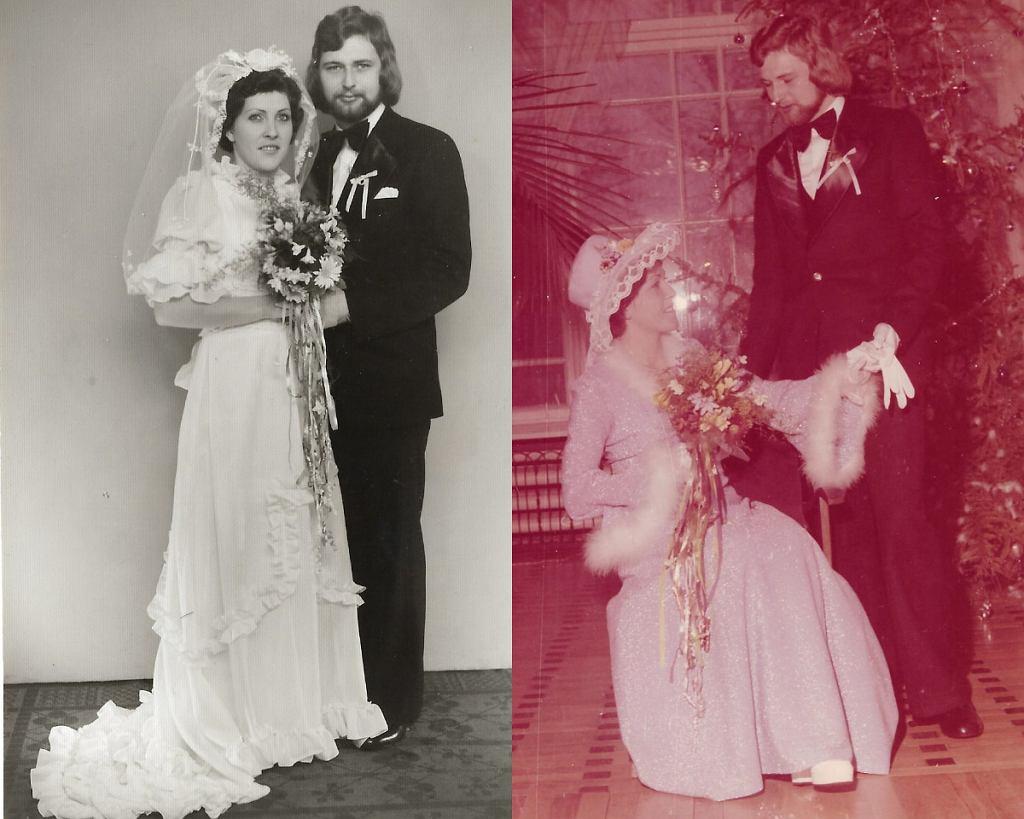 Ślub kościelny i cywilny rodziców Beaty Aduckiewicz (Avanti24), lata 70.