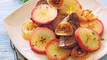 Wątróbka w jabłkach