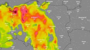 Mapa burz na środę 28.08.2019