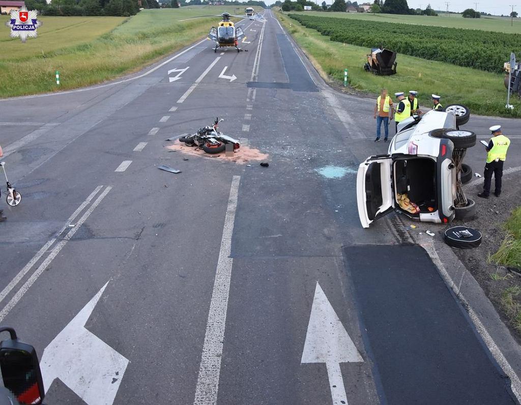 Zdjęcia z miejsca wypadku w Krasnymstawie