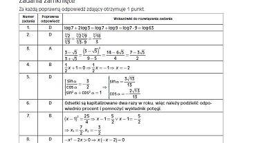 Próbna matura 2016 Operon matematyka pp klucz