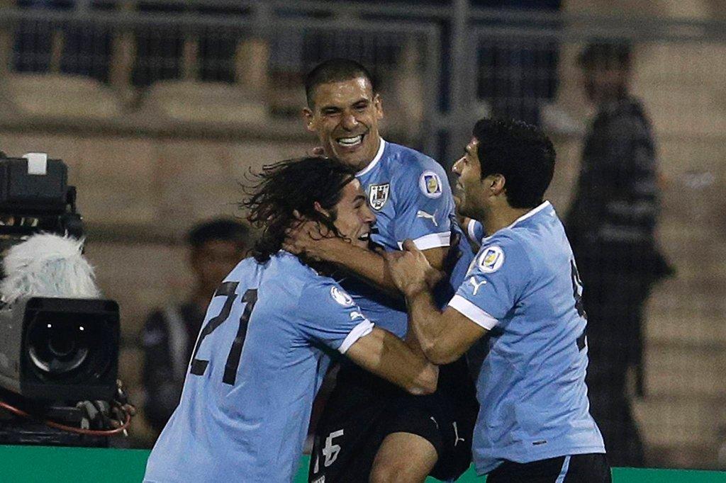 Edison Cavani, Luis Suarez i Maximiliano Pereira