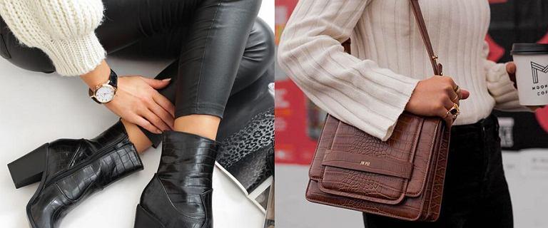Buty i torebki z krokodylim wzorem to najmodniejsza propozycja na jesień!