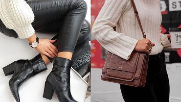 buty i torebki z krokodylim wzorem