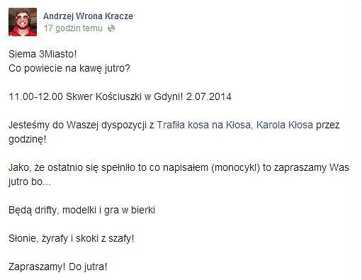 Andrzej wrona i Karol Kłos w Krakowie