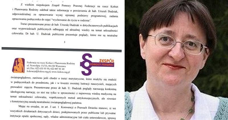 Fragment listu Federacji/ Urszula Dudziak