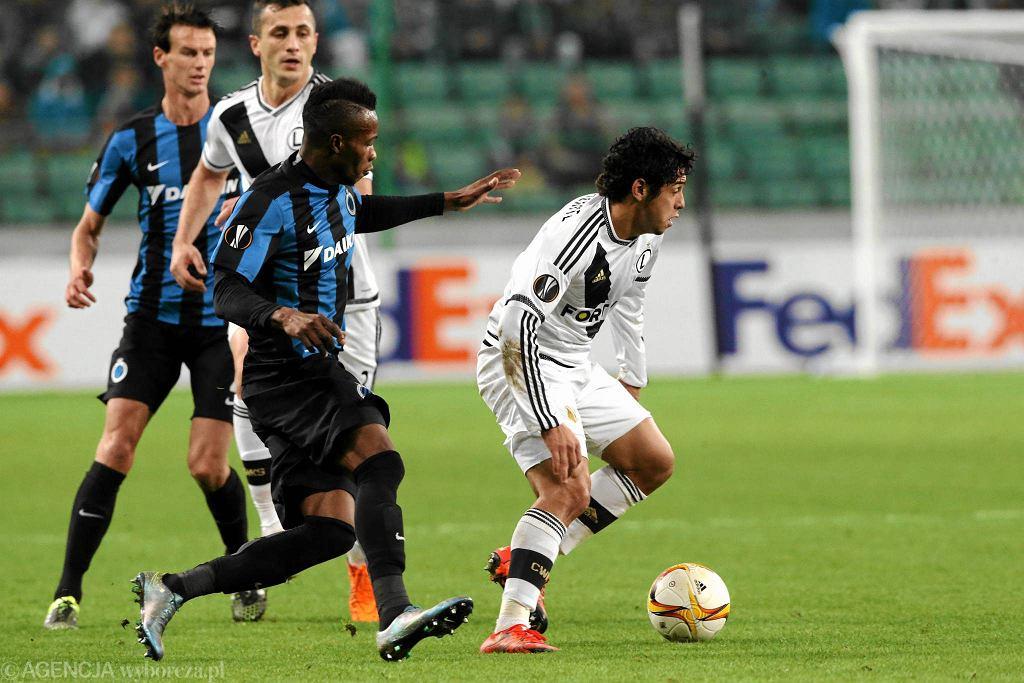 Abdoulay Diaby w meczu Legia - Club Brugge 1:1