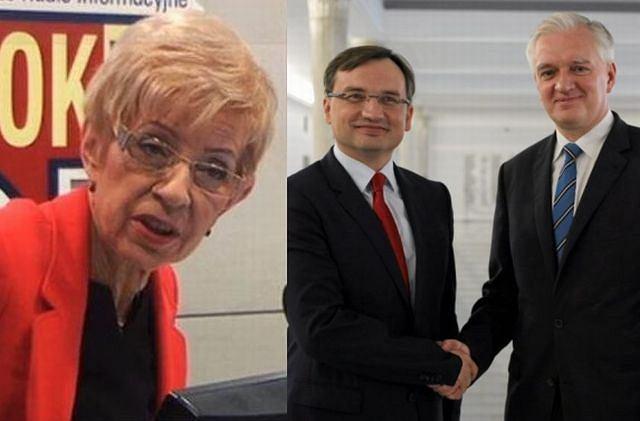 Janina Paradowska, Zbigniew Ziobro, Jarosław Gowin