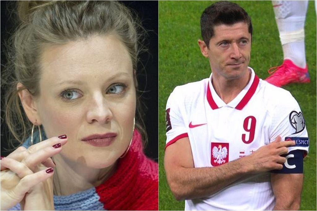 Magdalena Boczarska komentuje zachowanie kibiców podczas meczu Polska-Anglia