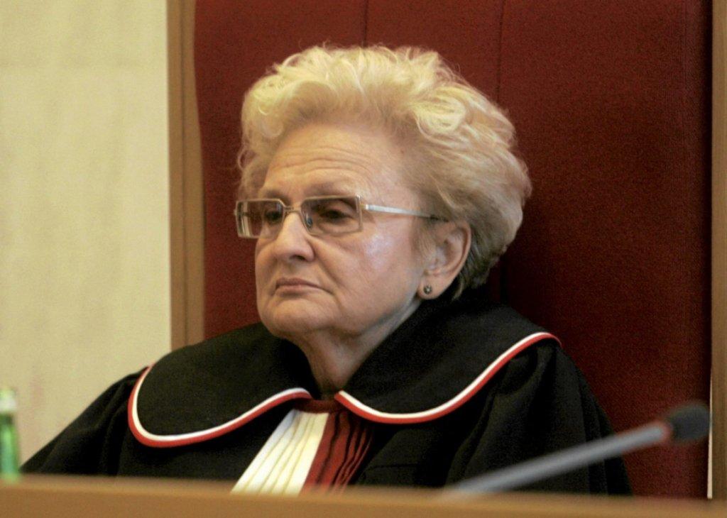 Prof. Ewa Łętowska jako sędzia Trybunału Konstytucyjnego (fot. Wojciech Olkuśnik/AG)