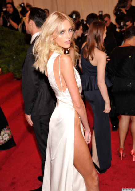 """NEW YORK, NY - MAY 07:  Model Anja Rubik attends the """"Schiaparelli And Prada: Impossible Conversations"""" Costume Institute Gala at the Metropolitan Museum of Art on May 7, 2012 in New York City.  (Photo by Stephen Lovekin/FilmMagic)"""