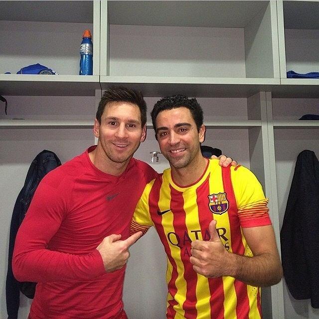 Leo Messi i Xavi