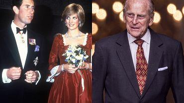 Księżna Diana, książę Karol, książę Filip