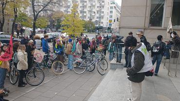 Protest Extinction Rebellion Youth w Warszawie, 16.10.2021.