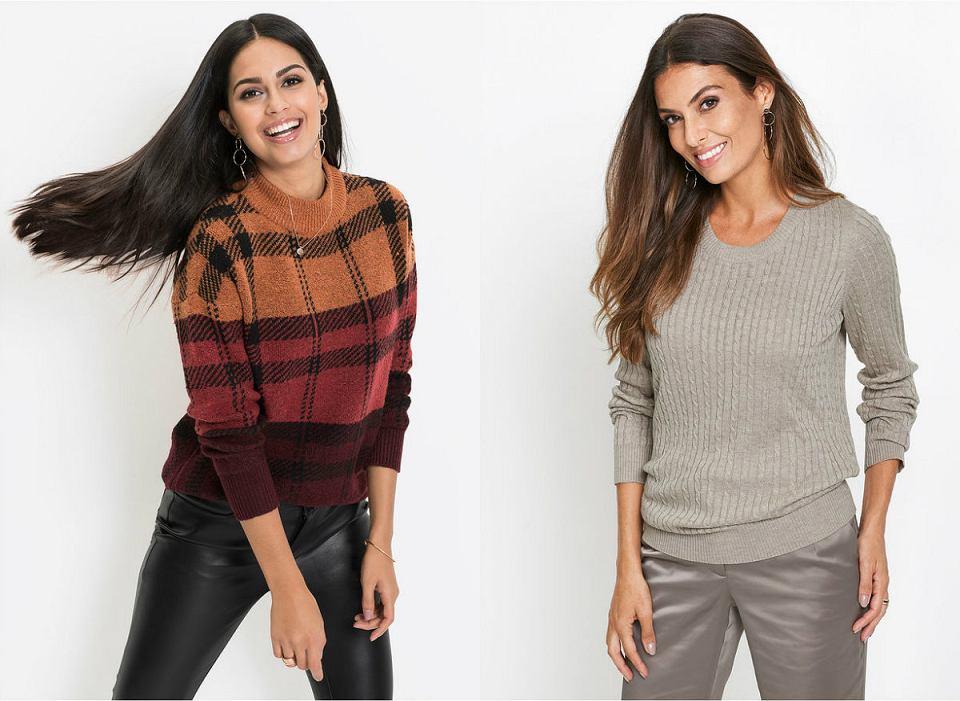 Swetry z modnymi splotami