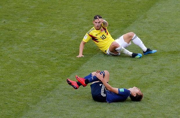 Mundial 2018. Polska-Kolumbia. James Rodriguez, Radamel Falcao i Juan Cuadrado - gwiazdy reprezentacji Kolumbii