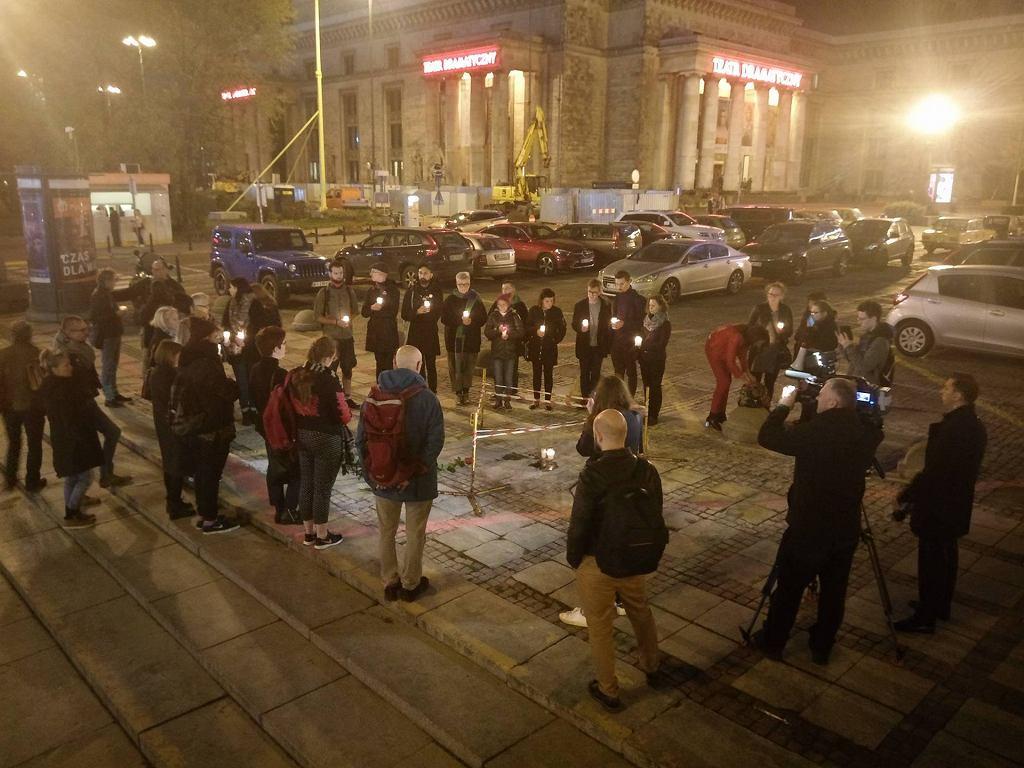Protest na placu Defilad