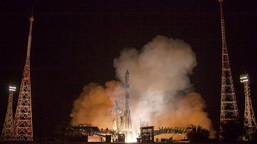 Rosyjski Sojuz startuje z kosmodromu Bajkonur