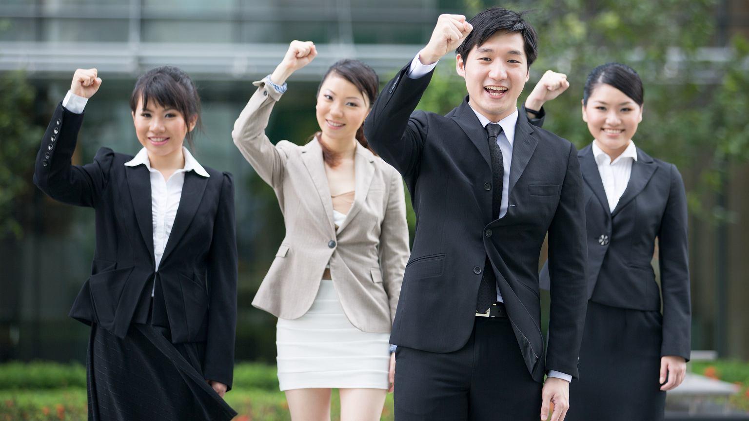 Pracownicy japońskiej korporacji