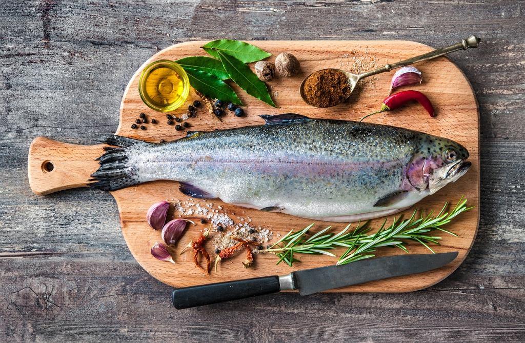 Pstrąg jest bogaty w kwasy omega-3
