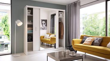 Szafa przesuwana idealnie pomieści większość rzeczy i dobrze prezentuje się w każdym pomieszczeniu.