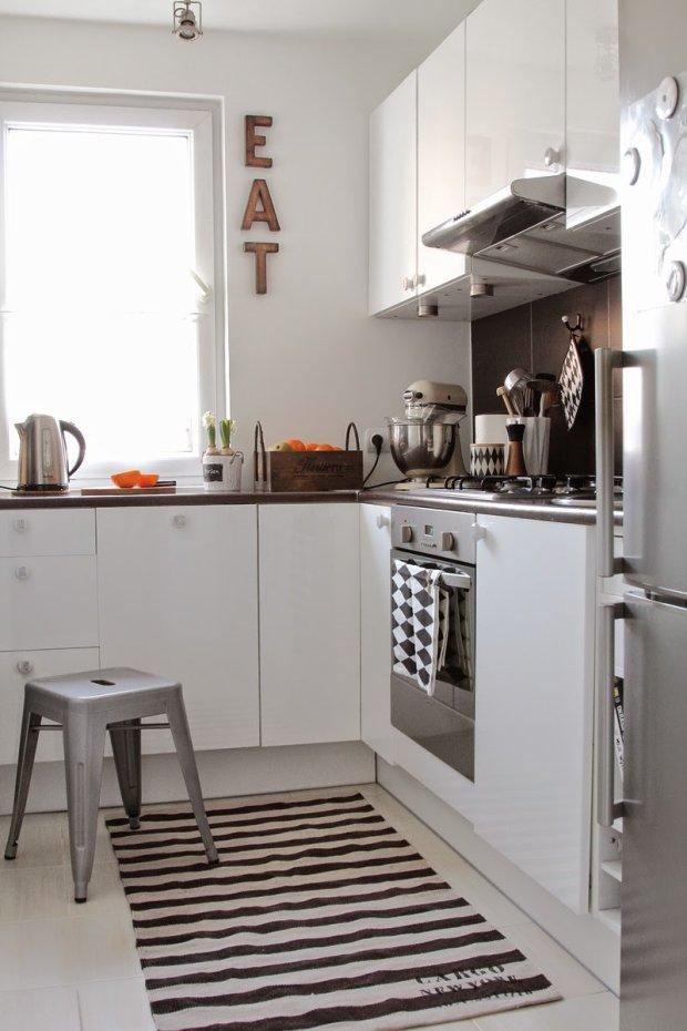 Kuchnia, metamorfoza kuchni, styl skandynawski, blaty, meble kuchenne, szafki kuchenne