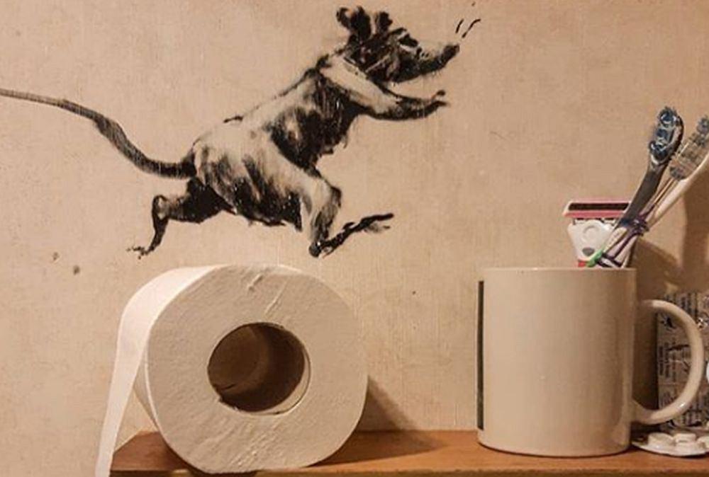 Banksy - fragment najnowszej pracy