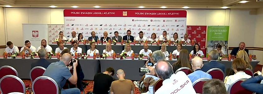 Konferencja reprezentacji Polski po powrocie z lekkoatletycznych ME