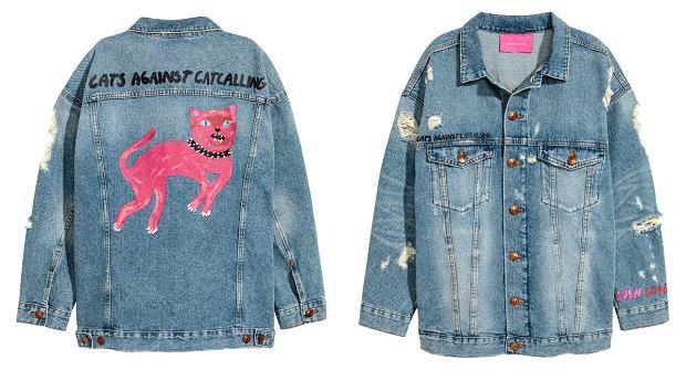 Nasz ulubiony model z kolekcji Zary Larsson dla H&M - feministyczna kurtka z kotem