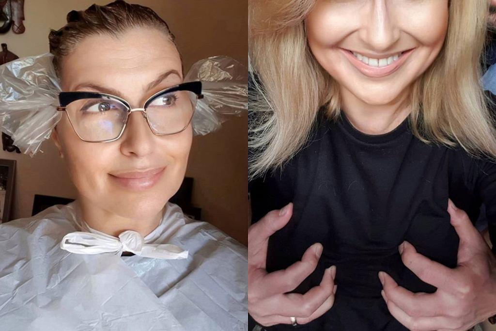 Katarzyna Skrzynecka farbuje włosy