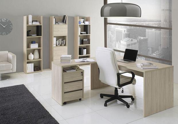 Wygodne biurko narożne do domowego gabinetu